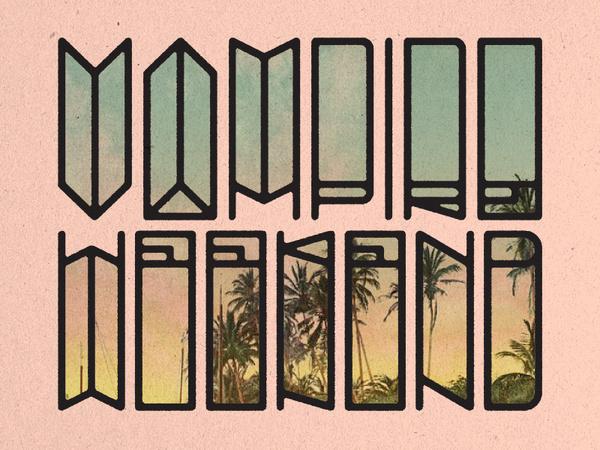 Vampire Weekend #vampire #lettering #weekend #typography