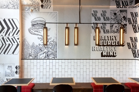 Fabio Ongarato Design | Grill'd #interior #placemaking #graphic #restaurant #illustration #typography