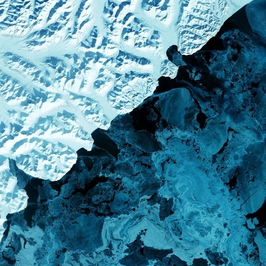 A process cannot be understood by stopping it. Understanding must... - but does it float #earth #blue #sattelite #photo