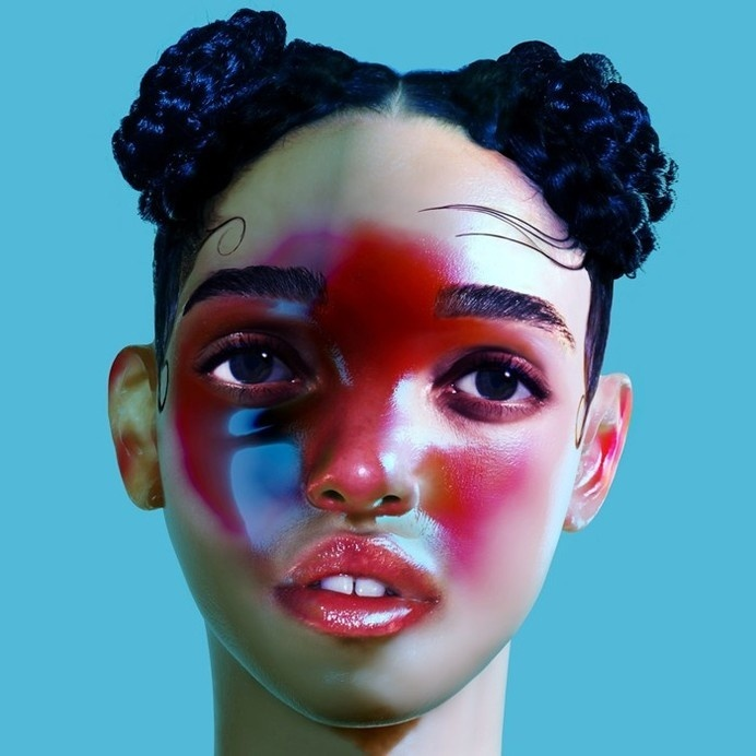 FKA twigs - LP1 artwork #make #photo #lips #hair #eyebrows #portrait #make-up #up #art #photography #blue #hairstyle
