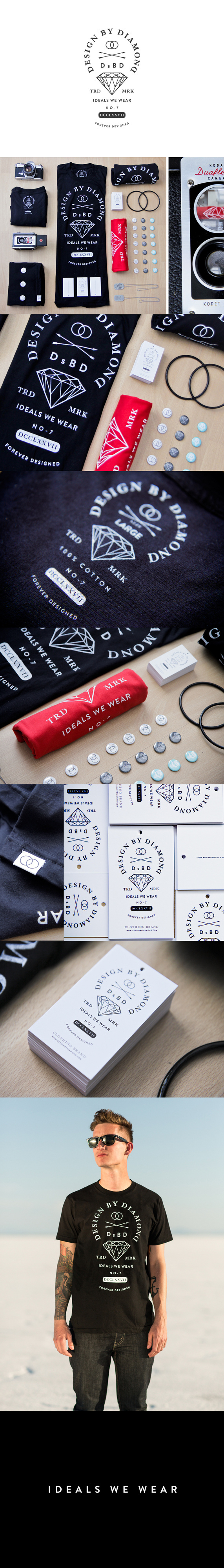 Ideals_we_wear_dribbble_detail #layout #tee #branding #diamond
