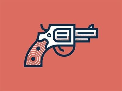 Dribbble - Thus Always to Tyrants by Bobby McKenna #gun #illustration #pistol