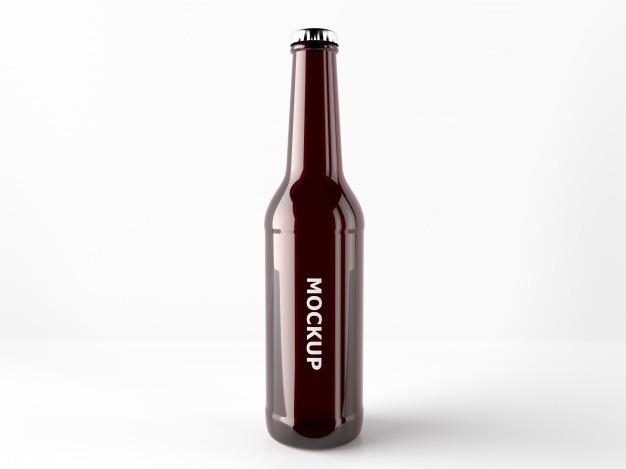 Beer bottle mock up design Free Psd. See more inspiration related to Mockup, Design, Template, Beer, Web, Website, Bottle, Mock up, Templates, Website template, Mockups, Up, Web template, Realistic, Real, Web templates, Mock ups, Mock and Ups on Freepik.