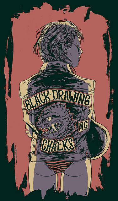 Black Drawing Chalks - Bicicleta Sem Freio #goinia #drawing #black #chalks #bsf