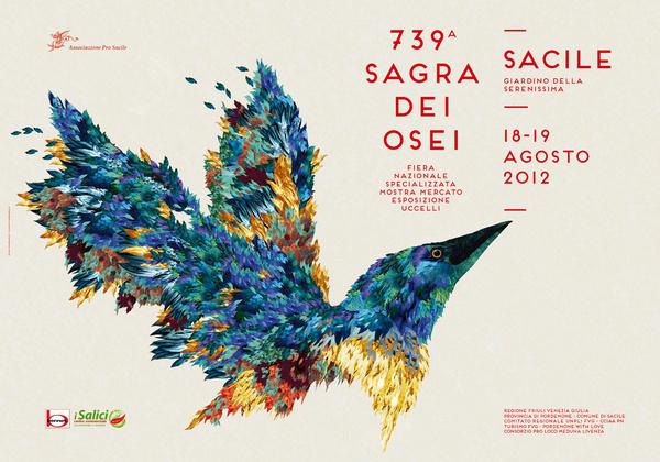 Sagra dei Osei on Behance #red #bird #typography