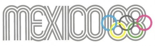 awesome logo #olympic #logo #mexico #1968