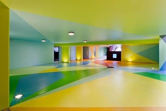 Creative Review - Craig & Karl's colourful car park #bright #painted #car #park