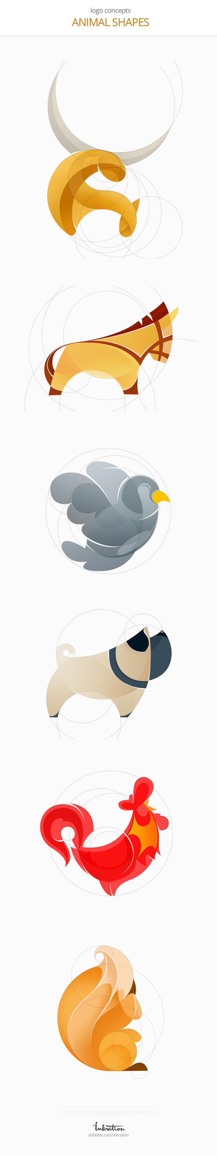 Animal Logos by Ink Ration #vector #process #design #logo #animal #sketch