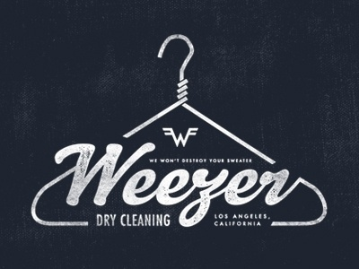 Dribbble - Weezer Dry Cleaning by Sam Kaufman