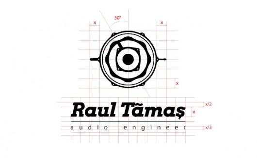 Raul Tamas - Branding on the Behance Network #speaker #drums #knob #stick #sound #vintage #engineer #music #logo #audio #band