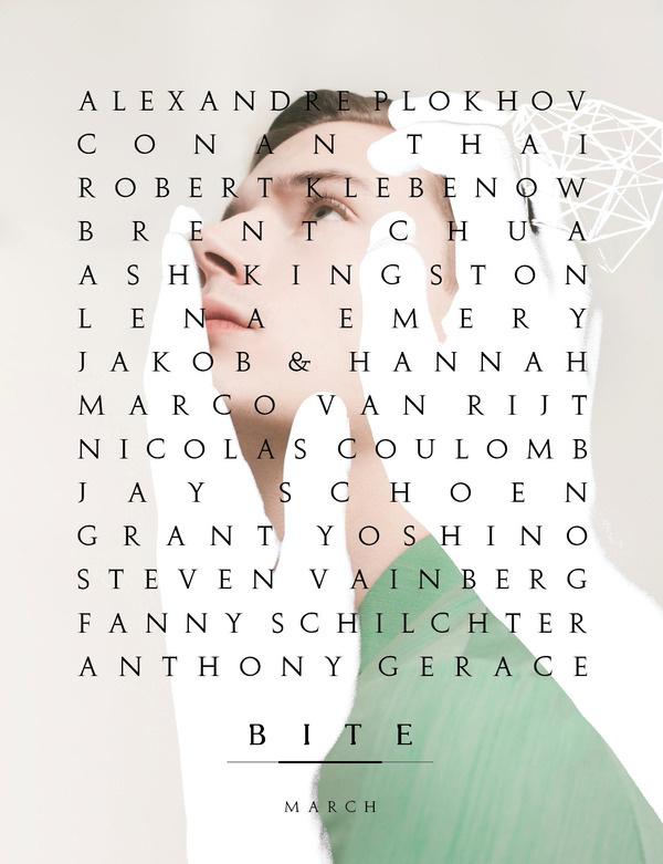 Source: bite zine.com #cover #magazine #editorial #bite