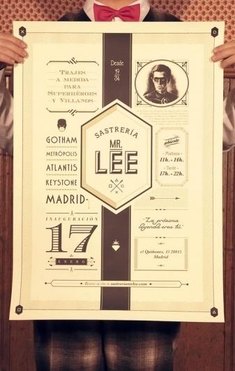 Mr Lee Tailor to Superheroes and Villains | The Inspiration Room #sastrera #design #lee #tipography #comic #poster #superheroe #mr