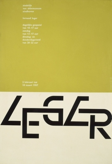 Poster Leger Van Abbemuseum 1957 | Flickr - Photo Sharing! #1957 #crouwel #poster #wim #leger
