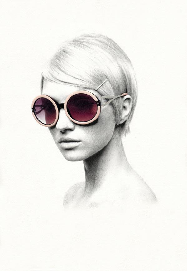 Montures on Behance #girl #illustration #portrait #pencil #sketch