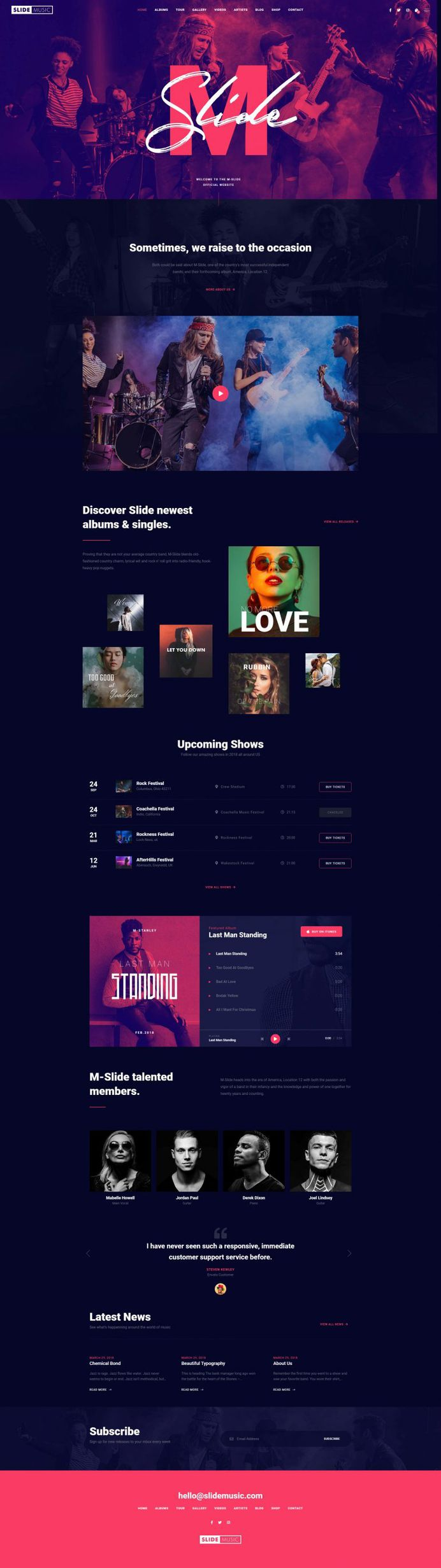 Slide – Creative Music Template