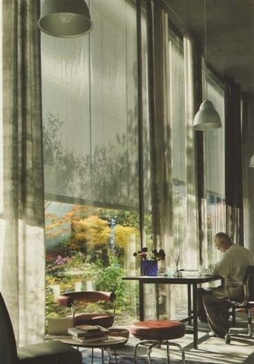Tennis with Apollo via A&H #zumthor #home #peter #desk #architecture #windows