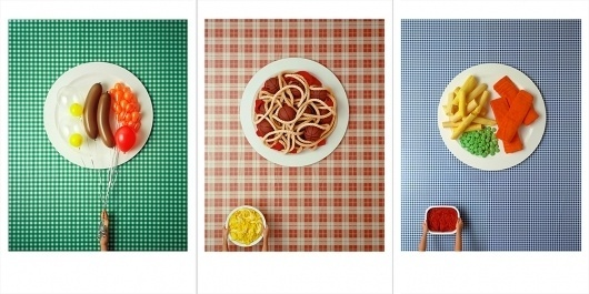 David Sykes — Faux food set #scale #prints #balloons #photo #large #phography
