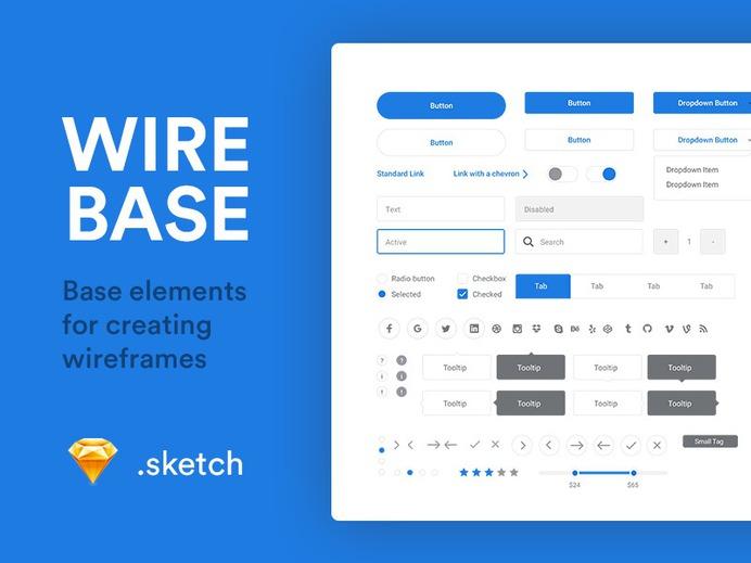 Wirebase Sketch UI Kit. Download it - https://www.thehotskills.com/sketch-app-ui-kits-free