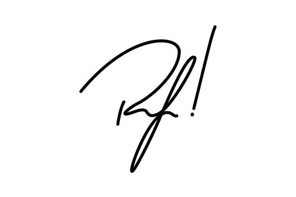 RF! - Logo #type #white #black #logo