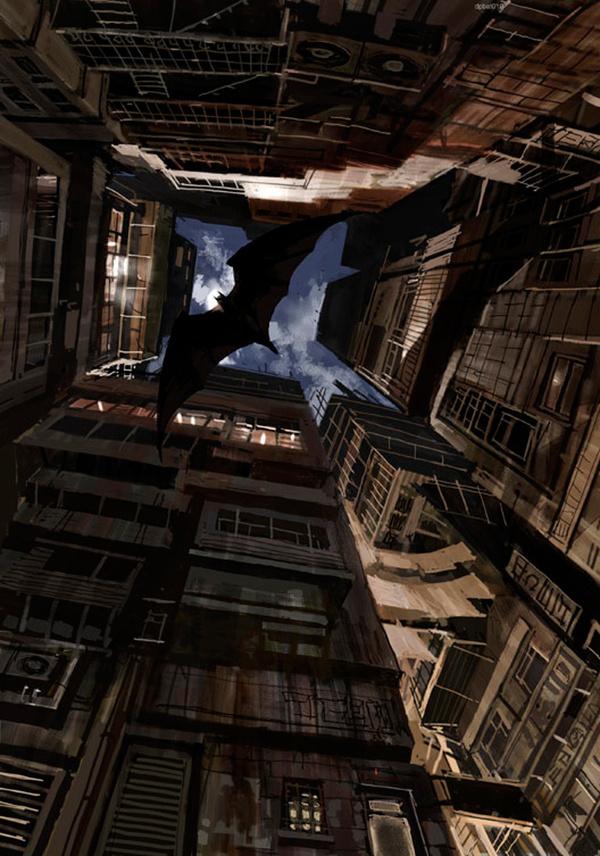 The Art Of Animation, Dermot Power #dc #flight #batman #illustration #bat #wings #comics