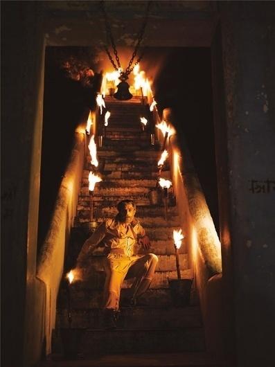 Patrick Petitjean   Paranaiv / Are Sundnes #indialike #nathaniel #fire #stairs #man #goldberg
