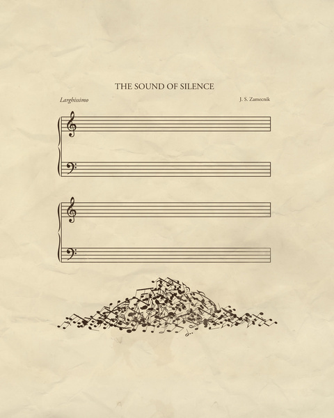 CJWHO ™ (The Sound of Silence by John Tibbott Gallery...) #creative #print #design #silence #illustration #sound #art #music