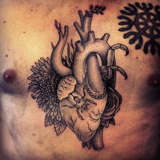 Instagram Photos #heart #gregorio #tattoo #hooper #marangoni