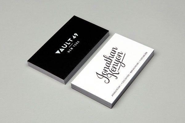 Vault 49 business card #design #graphic #typography