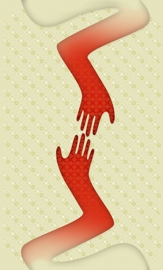6068093162_14b7c24c32_b.jpg (539×891) #red #illustration #hands #fashion #comeback #patterns