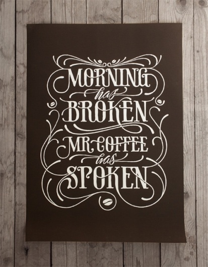 Coffee made me do it #script #draw #poster #type #hand #typography