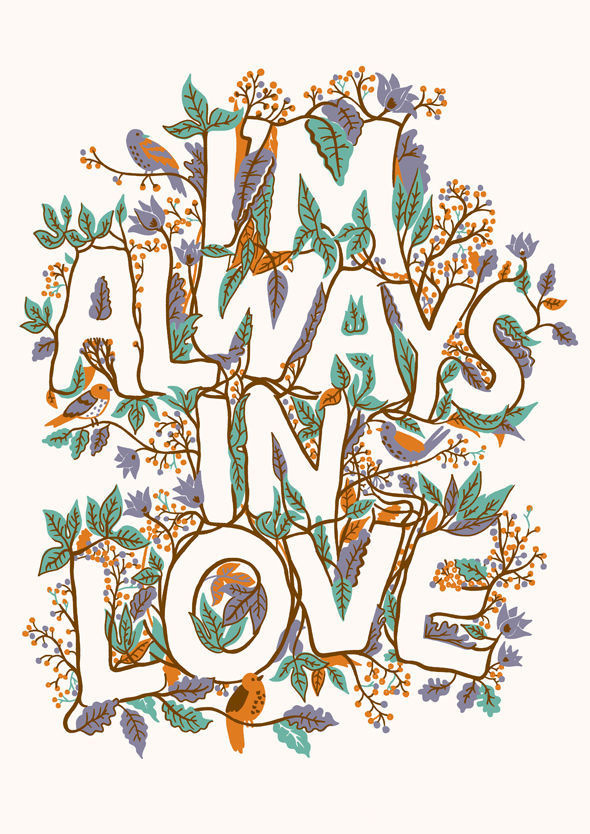 Adam Hayes #botanical #lettering #adamhayes