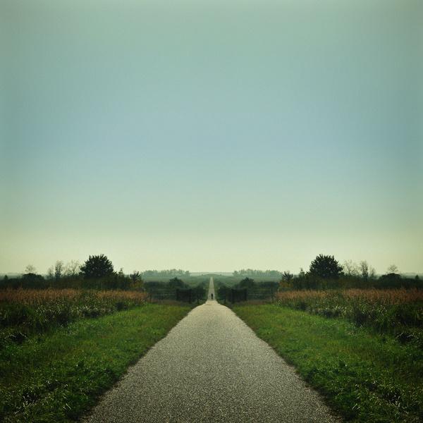 the biking road #tree #sky #road #landscape #bike #mirrored