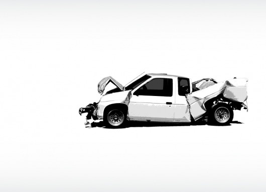 WAX/AESHTETIC ILLUSTRATION PAGE 1 #truck #illustration #white