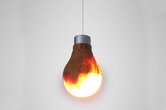 Ryosuke Fukusada Unveils Glowing Wooden Light Bulb | Inhabitat - Sustainable Design Innovation, Eco Architecture, Green Building #wooden #design #home #wood #lightbulb