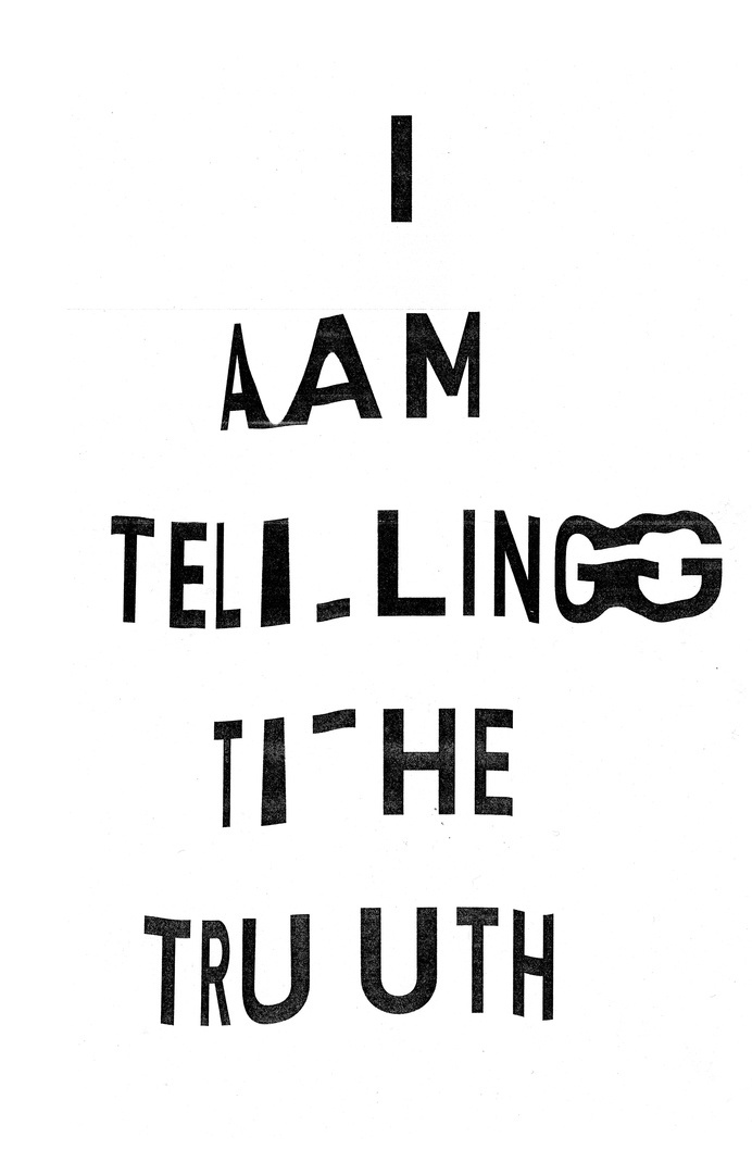 Typographic Experiments #truth #white #lies #photo #black #the #printer #and #type #din #xerox #typography