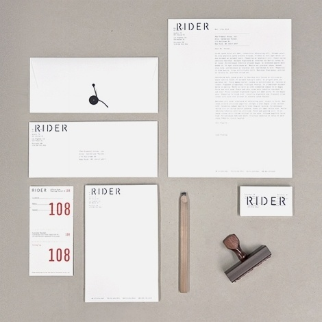 Josh Finklea: Rider identity at iainclaridge.net #stamp #identity #branding #stationery