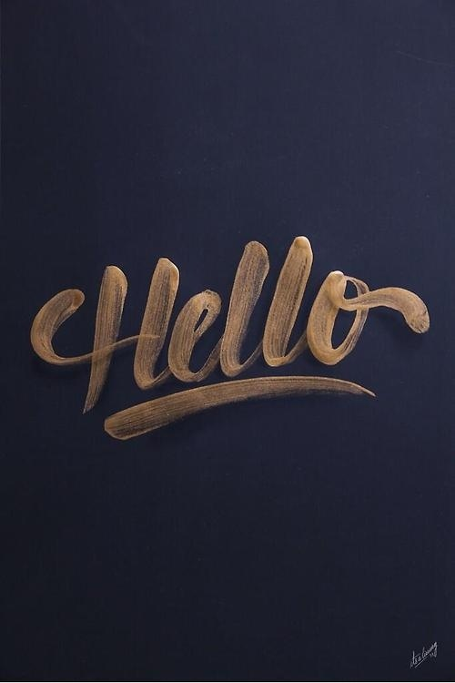 Typeverything.comnHello by Its a living. #hello #type #typo #sketch #typography