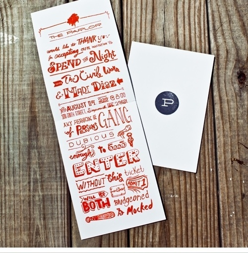 Shed Labs #invite #red #typography