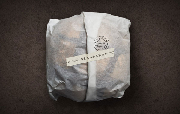 Scott Naauao #packaging #design #food #logo #paper #bread #typography