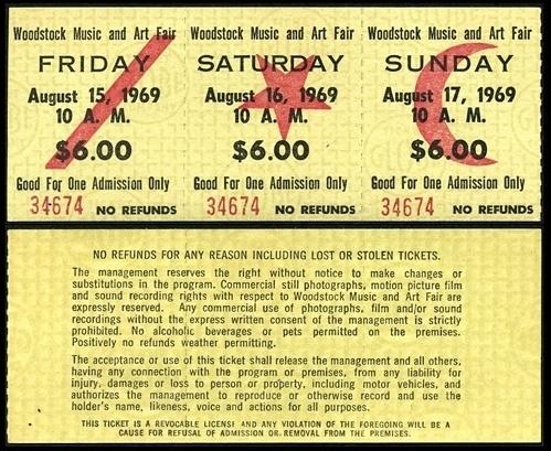UNTITLEDmagazine #1969 #tickets #woodstock #15 #august