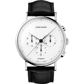 KOPPEL automatic chronograph with white dial ($500+) — Svpply #koppel #minimal #watch