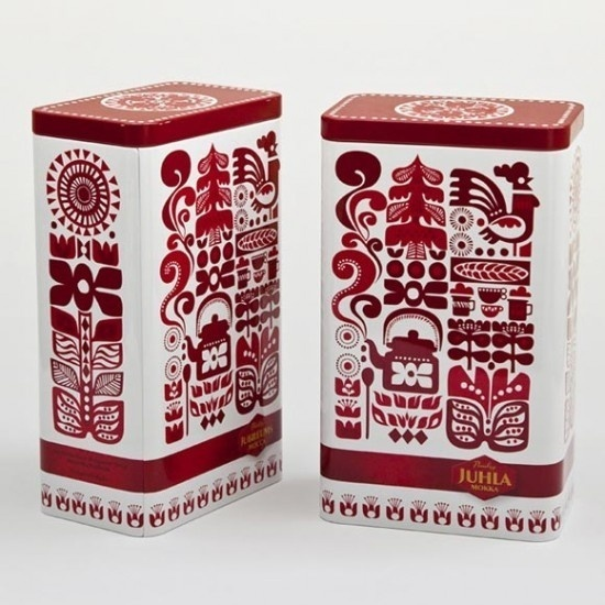 gorgeous folk art inspired coffee packaging #pattern