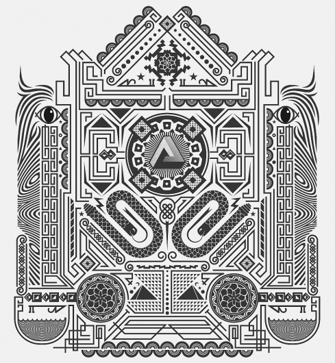 YASLY / SELECTED WORKS (2004 - 2011) / Threadless Select #geometry #lines #pattern #yasly #design #shape