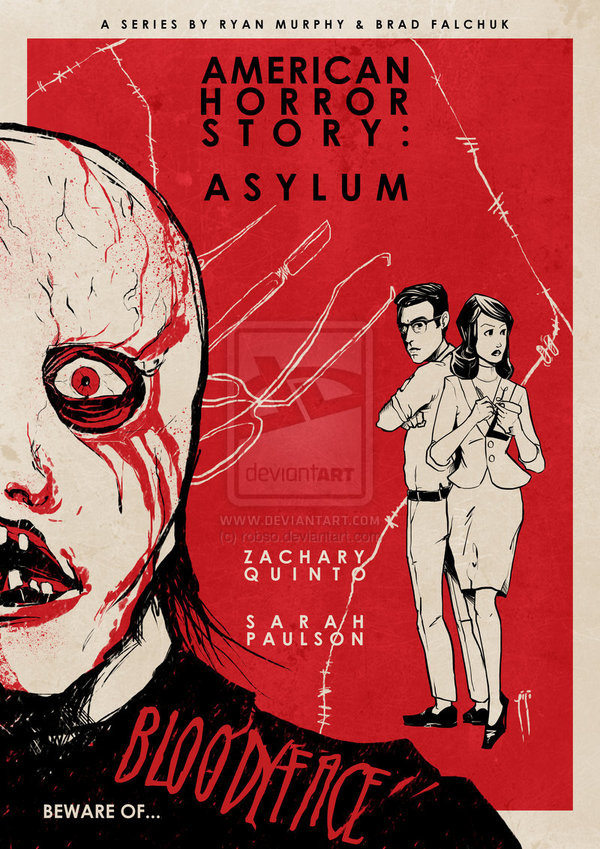 American Horror Story Vintage Poster I by ~robso on deviantART #movie #horror #poster