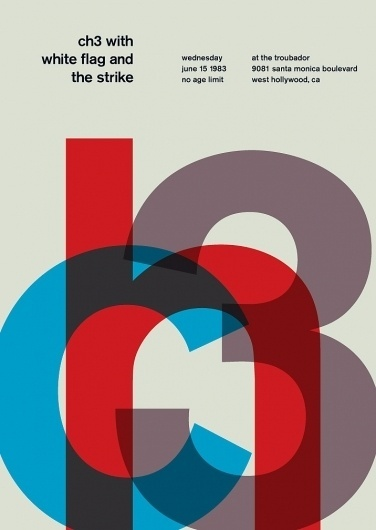 channel 3 at the troubador, 1983 - swissted #punk #swiss #design #minimalism #posters