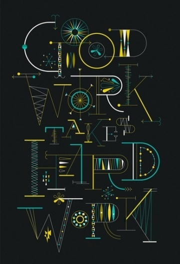 Brent Couchman Design & Illustration - Play #lines #shapes #couchman #brent #custom #type #typography