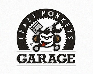 crazy monkeys #vector #branding #garage #monkey #logo