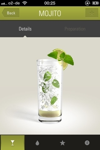 lovely ui (navigation on The Cocktail App) #mojito #recipes #iphone #app #cocktail
