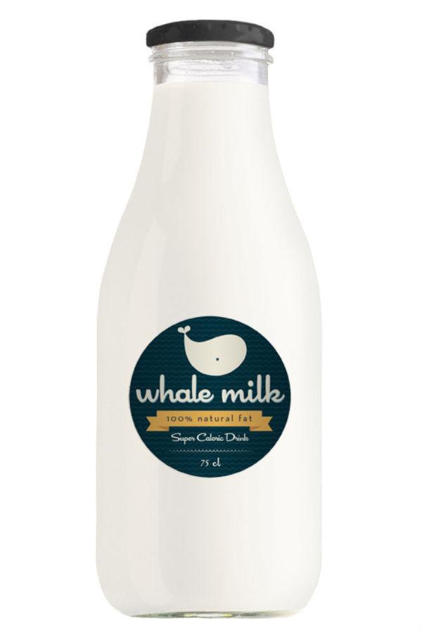 Whale Milk (Concept) #packaging #milk #bottle