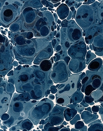 Energy and motion made visible —memories arrested in space - but does it float #19th #bibliodyssey #pattern #marbling #paper